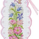 ฺBookmark ดอกไม้และผีเสื้อ