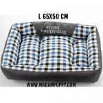 ที่นอนสุนัข Premium ลายสก็อตสีน้ำเงิน (พร้อมส่ง)