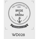 ตราปั๊มงานแต่ง WD028 - 3*3 ซม.
