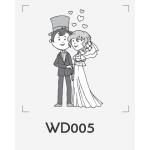ตราปั๊มงานแต่ง WD005 - 3*3 ซม.