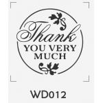 ตราปั๊มงานแต่ง WD012 - 3*3 ซม.