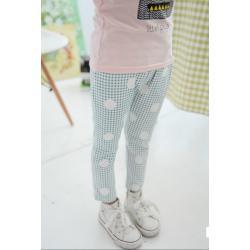 กางเกงขาสี่ส่วนลายสก็อตสีเขียว size 7,9,11