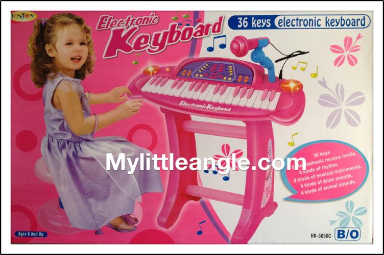 คีย์บอร์ด อิเล็คโทนเด็ก36 key พร้อมไมโคโฟน อัดเสียง ส่งฟรี