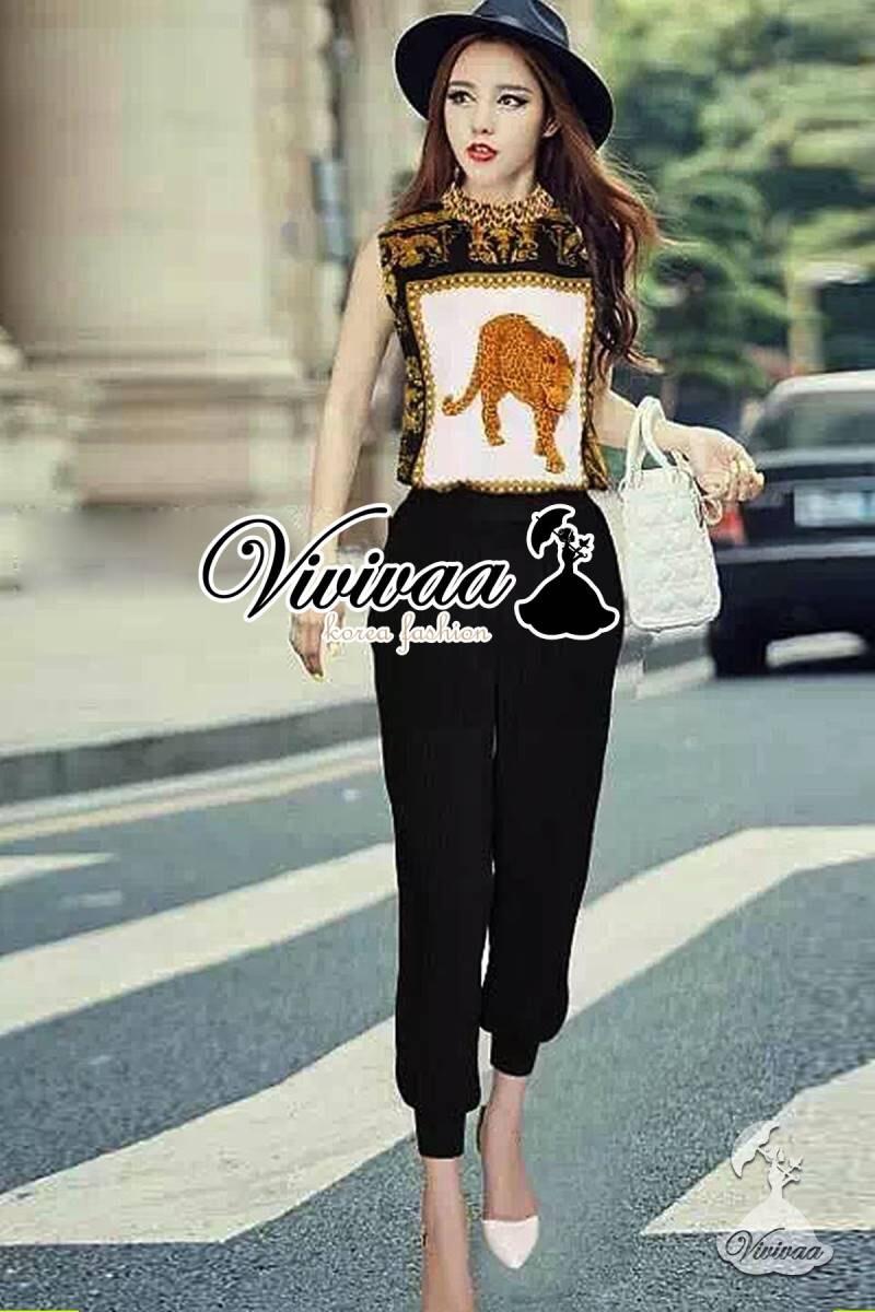 Vivivaa recommend Leopard girl chic set