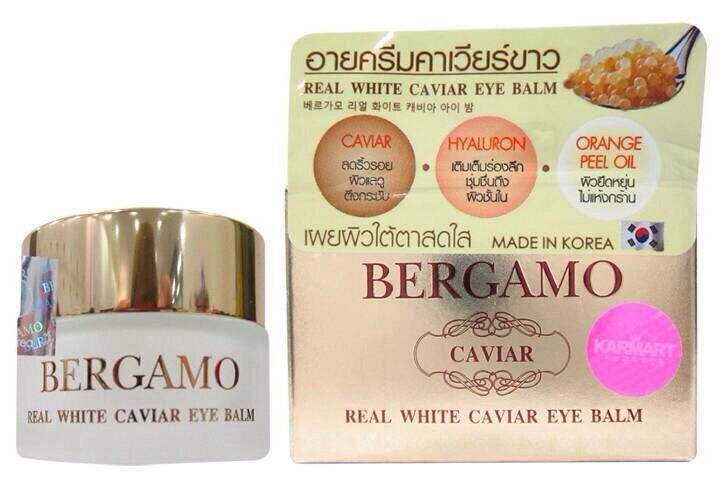 BERGAMO real white caviar EYE BALM 15g อายครีมเบอร์กาโม้ บำรุงรอบดวงตา