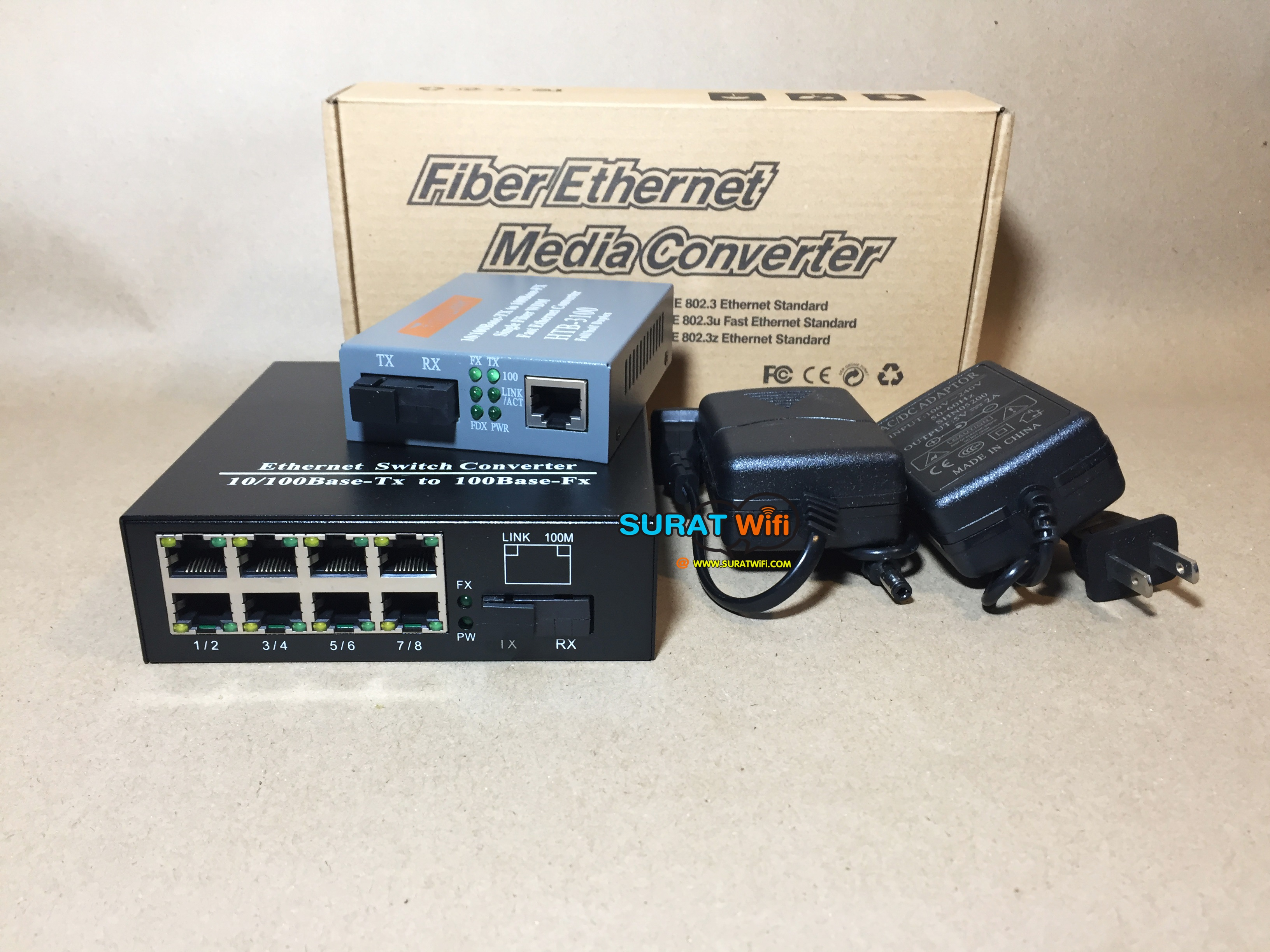 Fiber To Switch 8 port /100