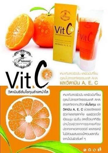 Vit C ส้มโชกุนสดล้างหน้าใส By Princess Skin care