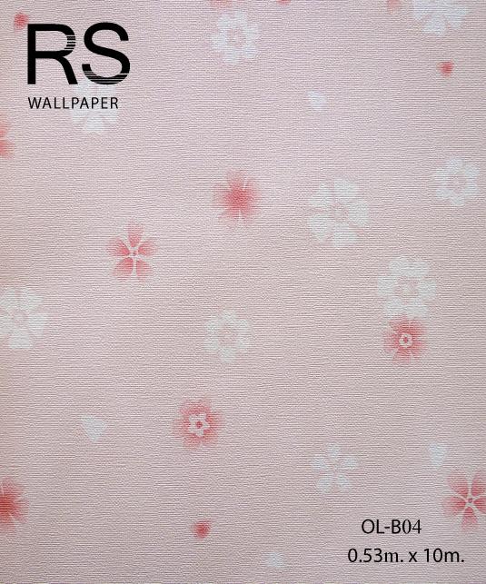 วอลเปเปอร์ลายดอกไม้ OL-B04