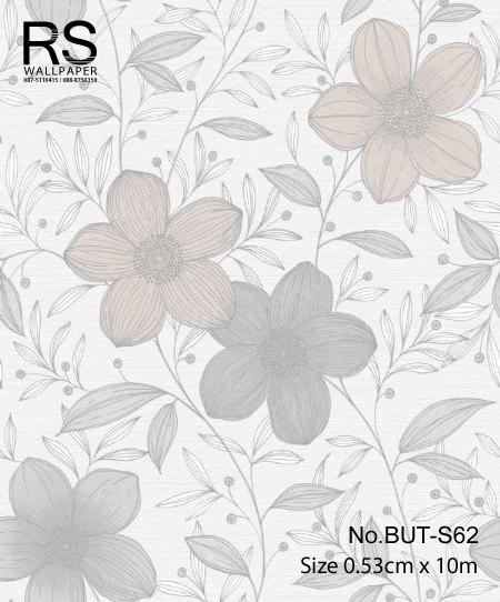 วอลเปเปอร์ลายดอกไม้ใบไม้ BUT-S62