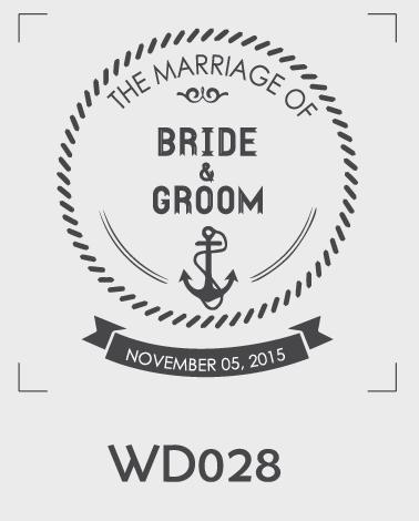 ตราปั๊มงานแต่ง WD028