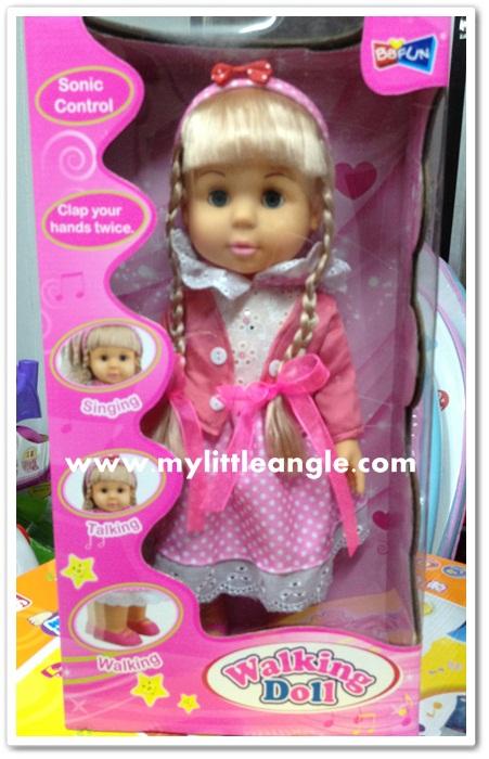 ตุ๊กตา walking doll หนูพูดได้ ร้องเพลงได้ เดินได้ ส่งฟรี