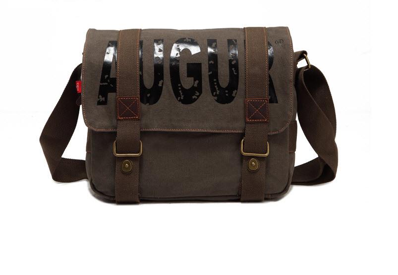 พร้อมส่ง กระเป๋าสะพายข้าง ผ้าแคนวาส สีเขียว แบบมีฝากระเป๋า มีช่องเก็บของด้านหน้า และด้านหลัง ใส่ของได้เยอะ สะพายข้าง สะพายไหล่ สายปรับได้