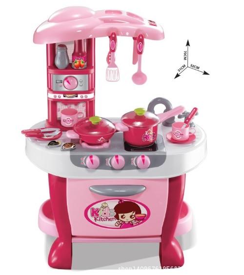 ชุดโต๊ะครัว little cheif สีชมพู ส่งฟรี