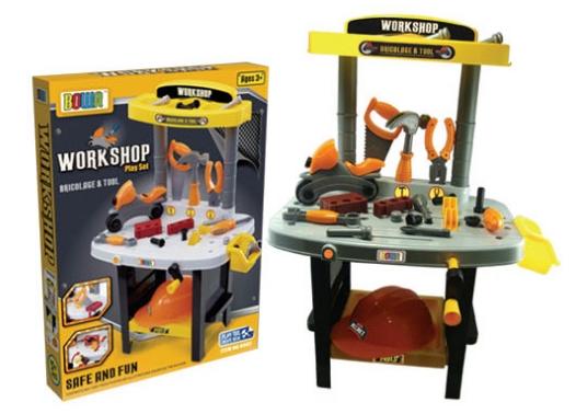 ชุดเครื่องมือช่่าง Workshop Play set ส่งฟรี