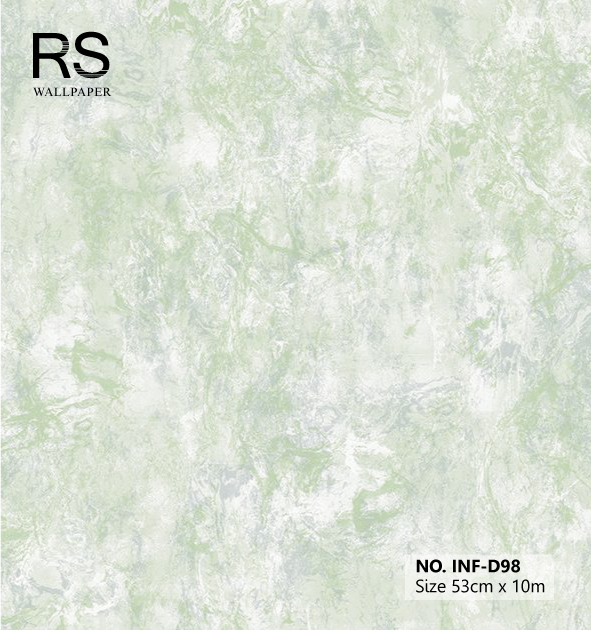 วอลเปเปอร์ลายหินอ่อนสีเขียว INF-D98