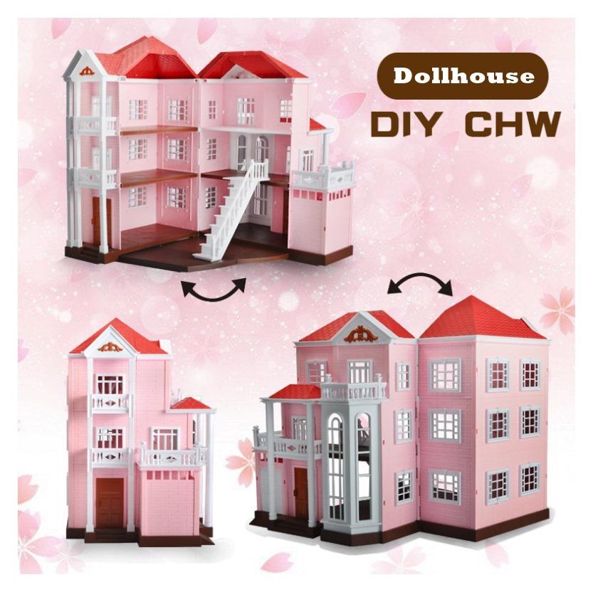 บ้านตุ๊กตา 3 ชั้น Anbeiya Family