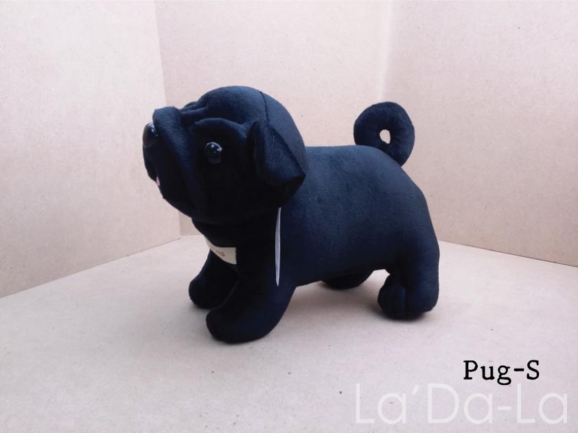 Pug Softy Toy - S BLACK