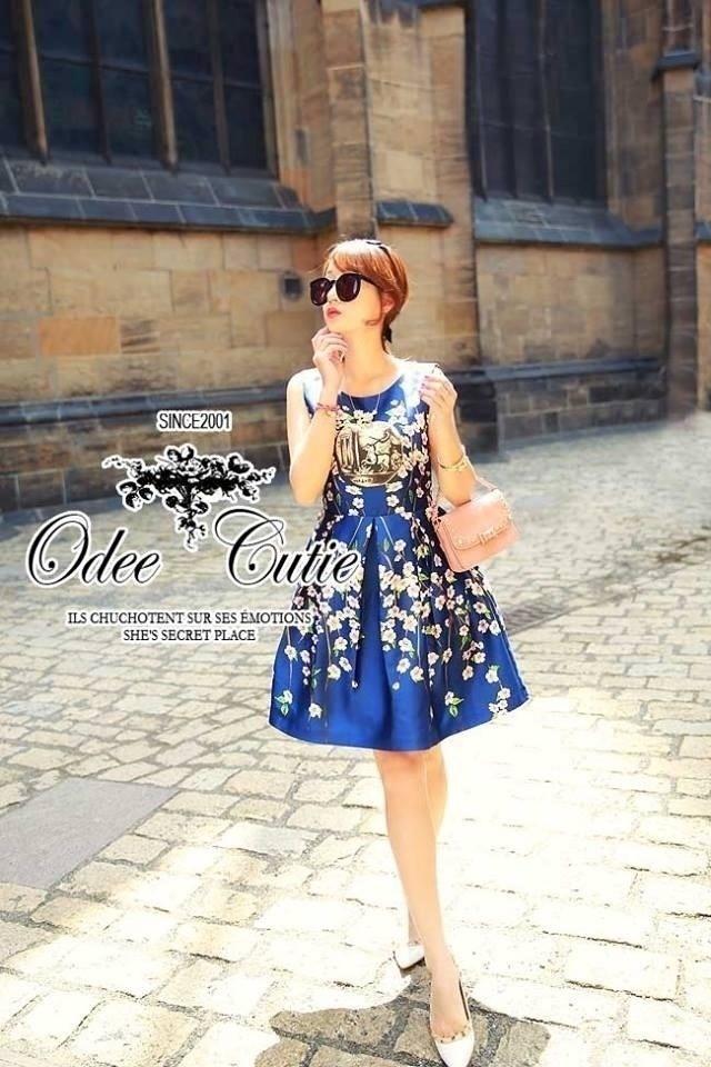 Dolce&Gabbana elegant blue silk dress