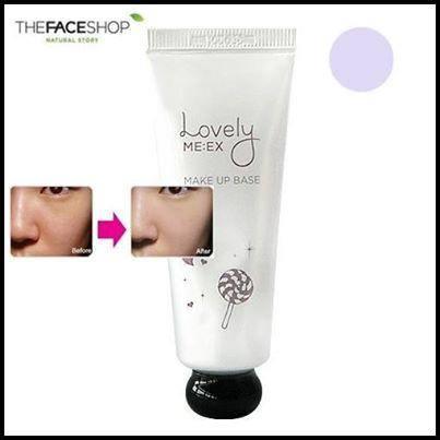 The Face Shop Lovely ME-EX Make-Up Base No.2 Violet สีม่วง