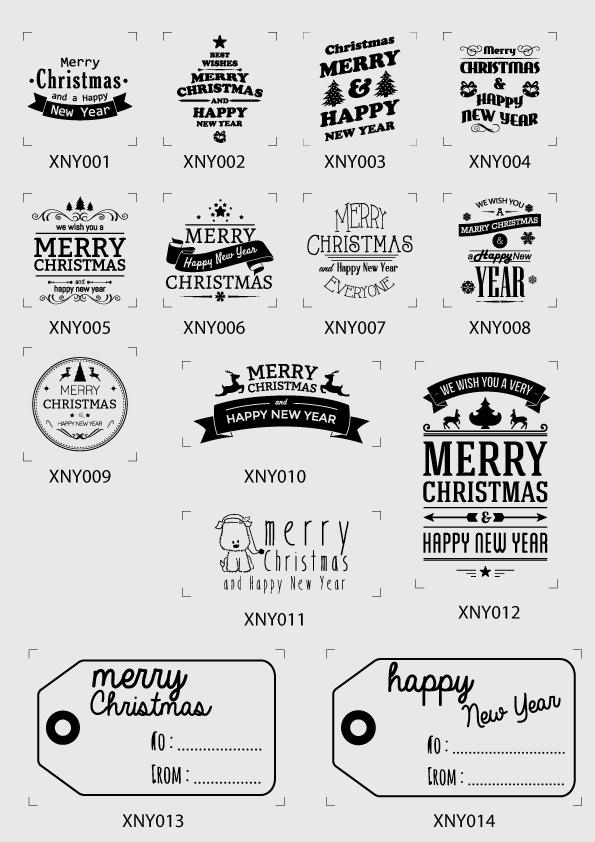 ตราปั๊ม merry Xmas and happy new year