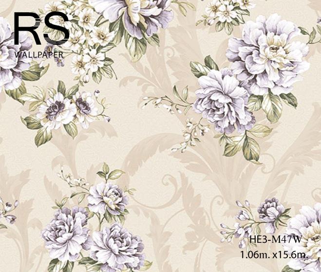 วอลเปเปอร์ลายดอกไม้วินเทจ HE3-M47W