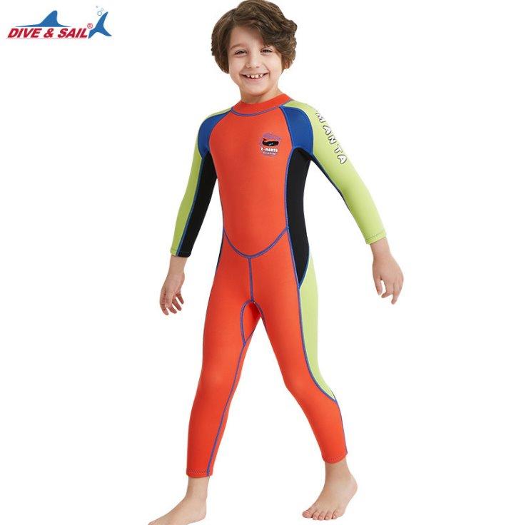 ชุดว่ายน้ำ เด็กผู้ชาย ชุดว่ายน้ำควบคุมอุณหภูมิ 2.5mm neoprene