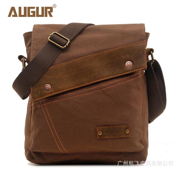 กระเป๋าสะพายข้าง สีกาแฟ ผ้าแคนวาส ใบเล็กออกแบบสวย สะพายไหล่ไปเที่ยวหรือทำงานได้เท่ห์ๆ