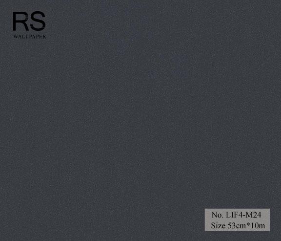 วอลเปเปอร์ยุโรปสีดำอมน้ำเงินพื้นเรียบ มีกลิดเตอร์ No.LIF4-M24