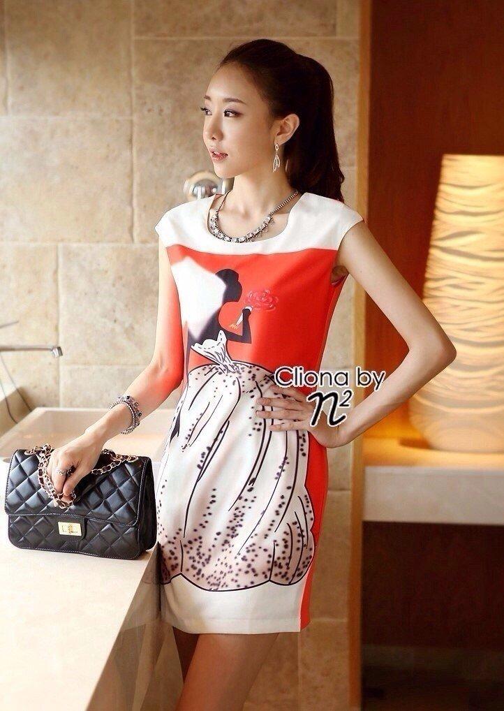 Cliona made, Elizabeth Print Dress