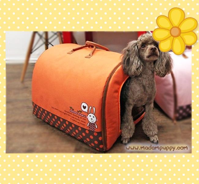 ที่นอนน้องหมา กระเป๋าน้องหมาเอนกประสงค์ สีส้มไซส์ M