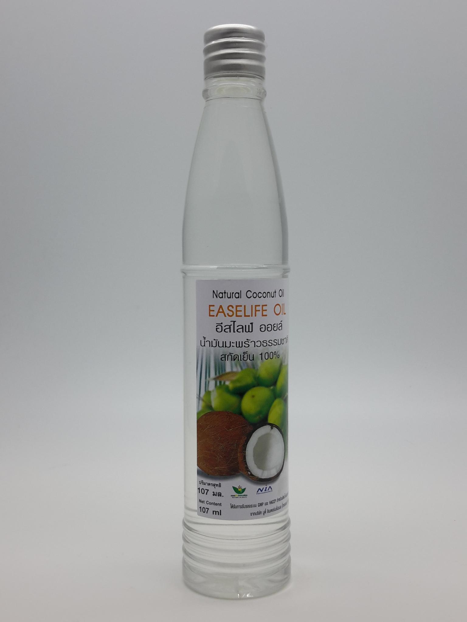 น้ำมันมะพร้าวสกัดเย็น 100% ขนาด 107 ml.