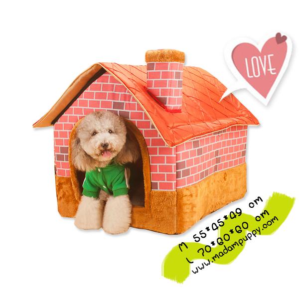 (พร้อมส่ง) บ้านสุนัข ไซส์ JUMBO ลายอิฐสีแดง