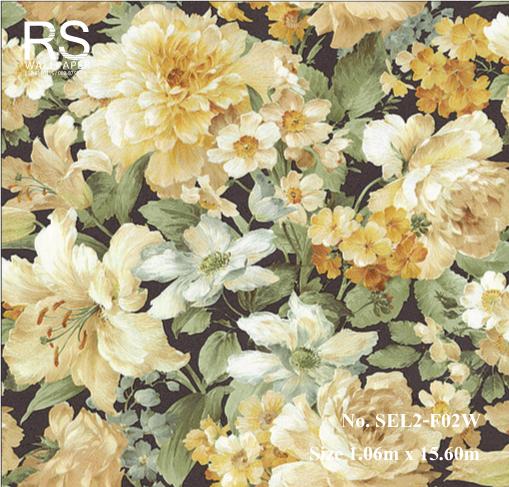 วอลเปเปอร์ลายดอกไม้ SEL2-F02W