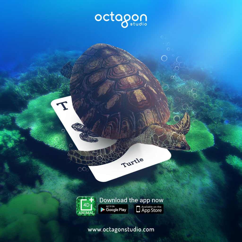 Flashcard Animal 4D+ แฟลชการ์ด Animal 4 มิติ เล่นกับ Tablet, Smartphone