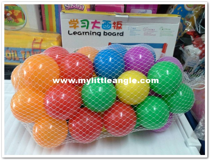 ลูกบอลหลากสี 40 ลูกส่งฟรี