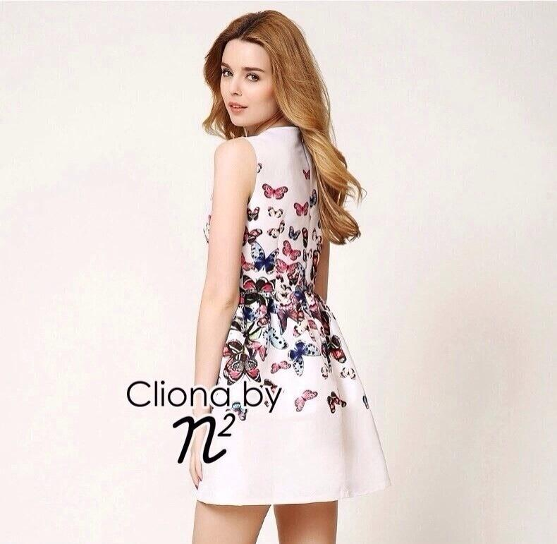 Cliona Made, N2 Design Butterfly Printed In Colorful Dress