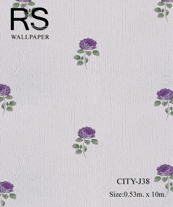 วอลเปเปอร์ลายดอกไม้ CITY-J38