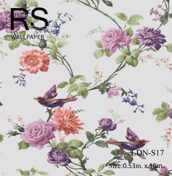 วอลเปเปอร์ลายดอกไม้-ใบไม้ LDN-S17