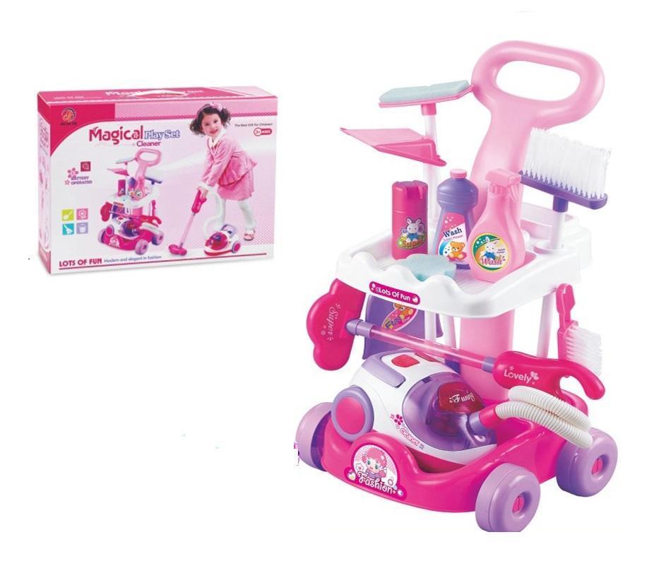 ชุดรถเข็นทำความสะอาด พร้อมเครื่องดูดฝุ่น Magical Cleaner ส่งฟรี