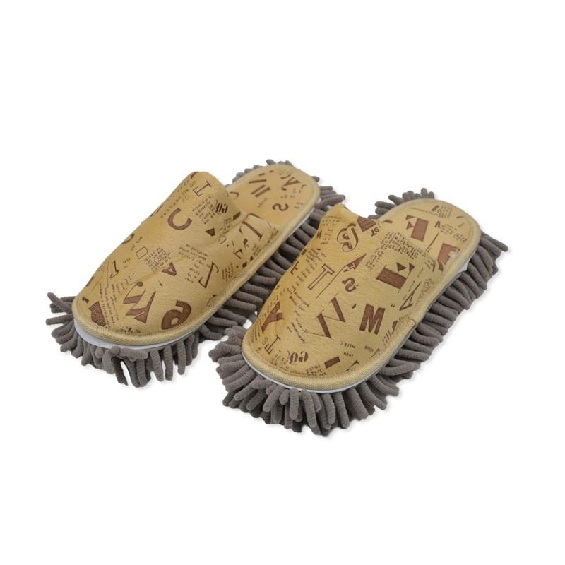 รองเท้าถูพื้น Microfiber พิมพ์ลายแฟนซี A-Z(สีครีม/เหลือง)