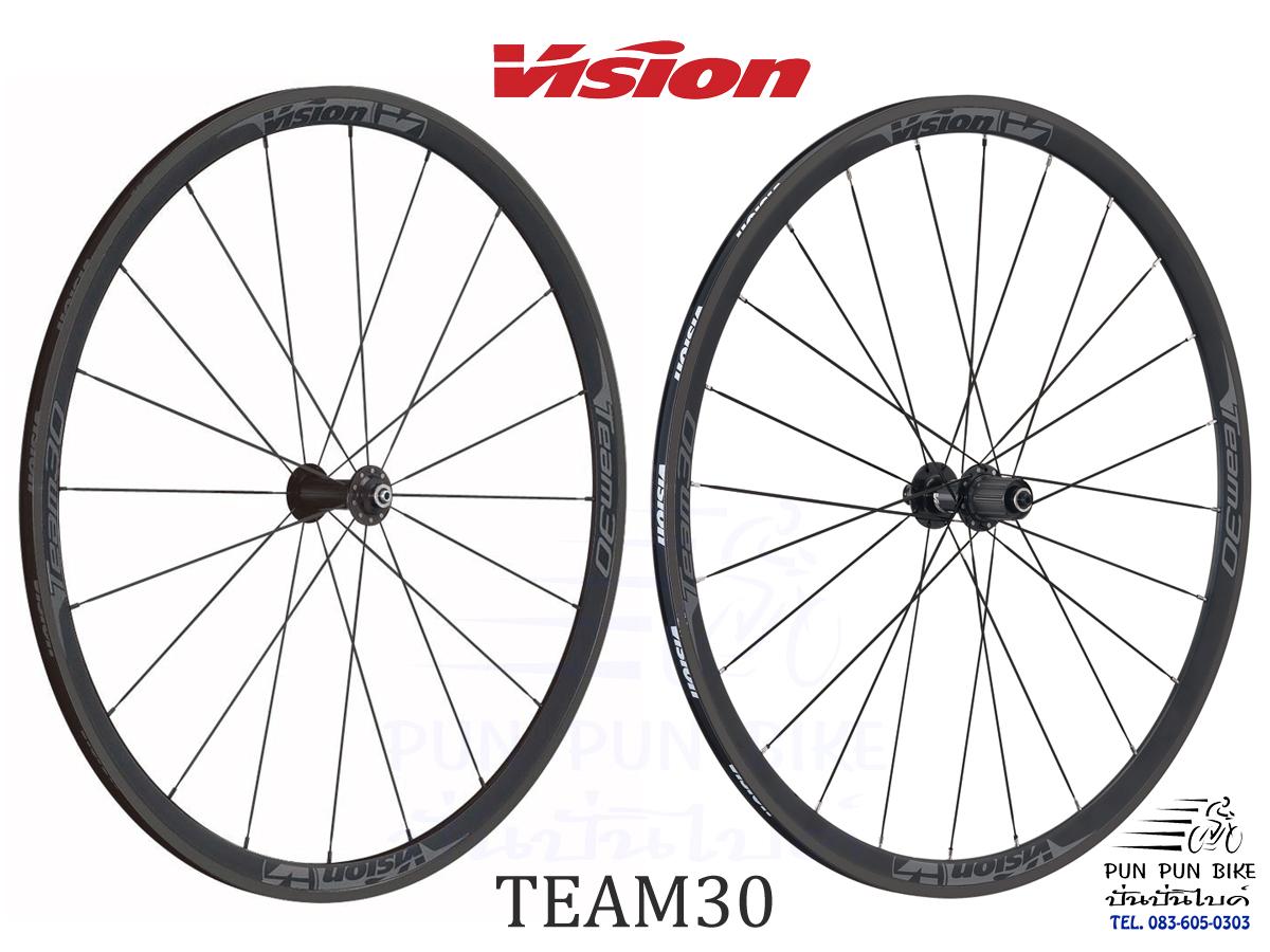 VISION : TEAM30 BLACK วงล้ออลูฯ แบริ่ง ขอบสูง 30 มม.