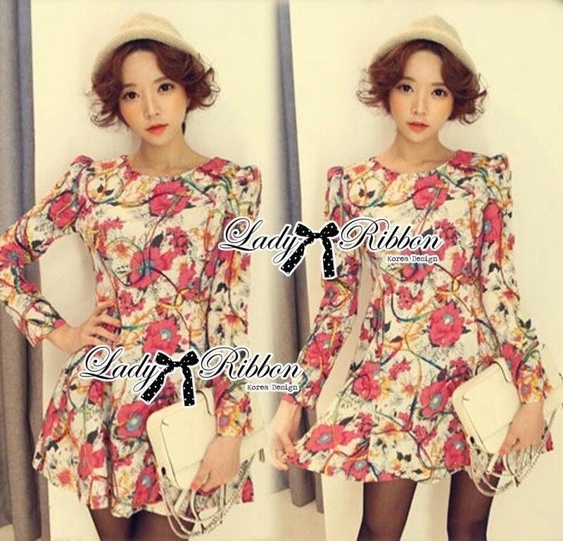 Lady Ribbon's Made Lady Jida Nasty Floral Mini Dress