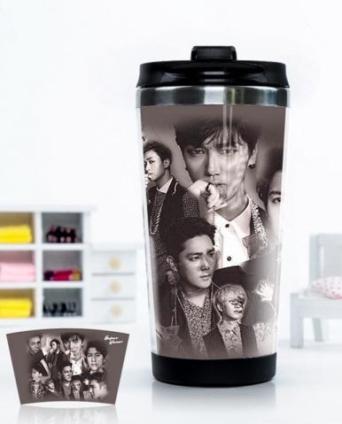 แก้วน้ำเก็บความเย็นอย่างดี 350 ML. : Super Junior