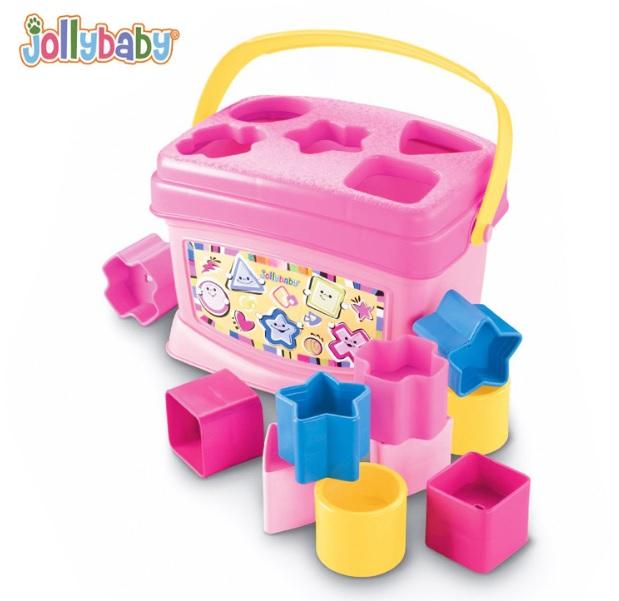 บล็อกหยอด Jolly Baby สีชมพู ส่งฟรี