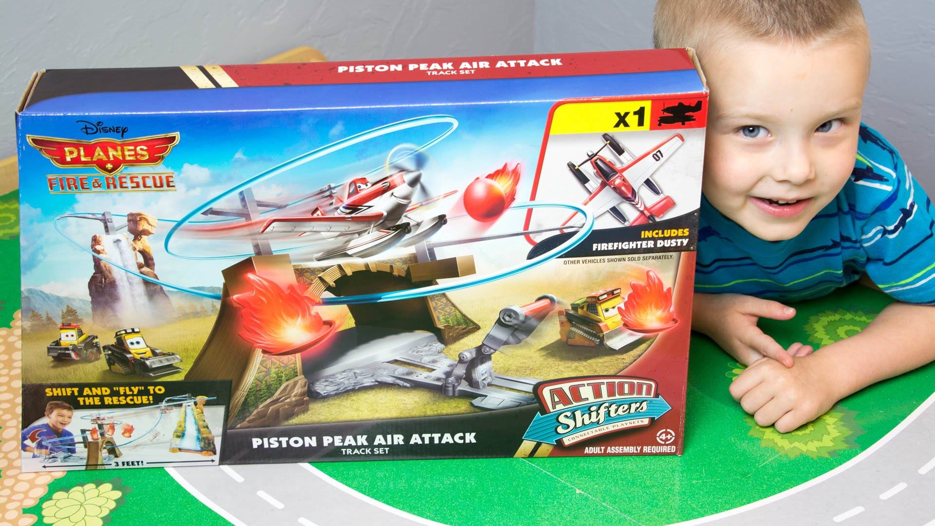 Disney Planes Fire & rescue piston peak air attack track set ของแท้ ส่งฟรี