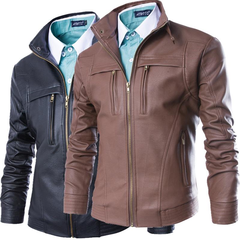 พรีออเดอร์ เสื้อแจ็คเก็ตหนังPU หนังด้าน ทรงเรียบ แต่งซิปแนวตรงช่วงหน้าอกเท่ห์ๆ เสื้อขี่มอเตอร์ไซค์