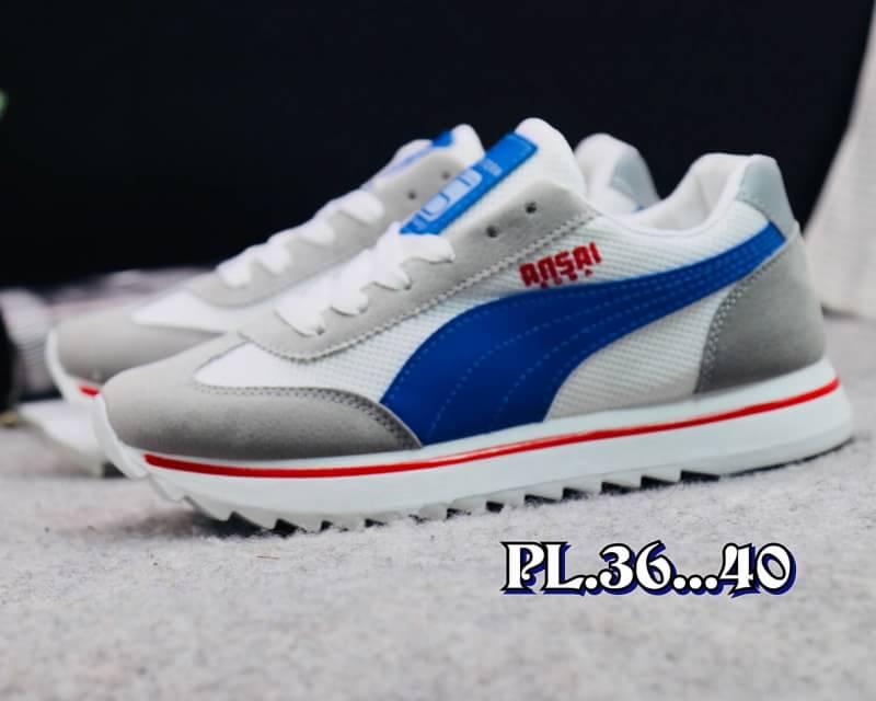 รองเท้าผ้าใบแฟชั่นทรง sport สไตล์ Puma พื้นหนาอย่างดีใส่กระชับเท้า