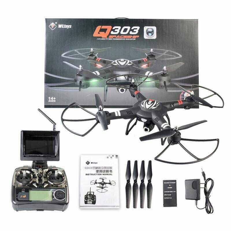 WL-Q303A FPV 5.8ghz/Big Drone+ล็อคความสูง+กิมบอล+หน้าจอ+ปรับหน้ากล้องอัตโนมัติ