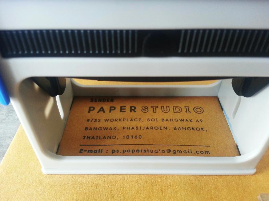 ตราปั๊มหมึกในตัว, ตรายางหมึกในตัว, ตราปั๊มที่อยู่, ตราปั๊มส่งของ, จ่าหน้าไปรษณีย์, self-ink stamp, trodat