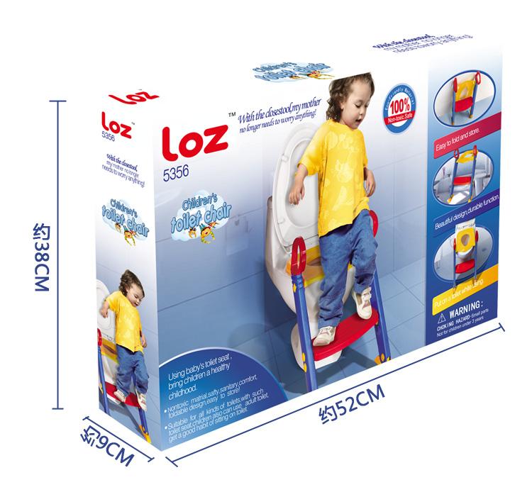 ฝารองชักโครกเด็กแบบมีบันได ยี่ห้อ LOZ ส่งฟรี